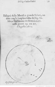 Taches solaires observées par Galilée - août 1613 [3]