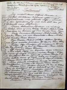 Le testament de 1895 [C]