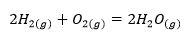 équation combustion H2